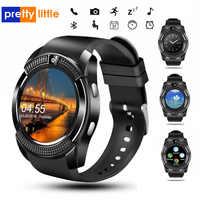 Reloj inteligente para hombre deportivo v8 tarjeta sim Cámara android respuesta redondeada llamada Dial llamada reloj inteligente ritmo cardíaco rastreador de Fitness