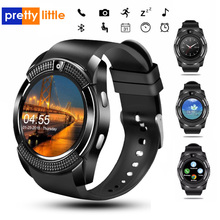 Sport Men Smart Watch v8 sim card android camera rounded Ans