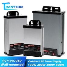 Wand Hängen LED Outdoor Regen Netzteil Adapter DC12V 60W 100W 200W 250W 400W DC24V led-treiber Beleuchtung Transformatoren