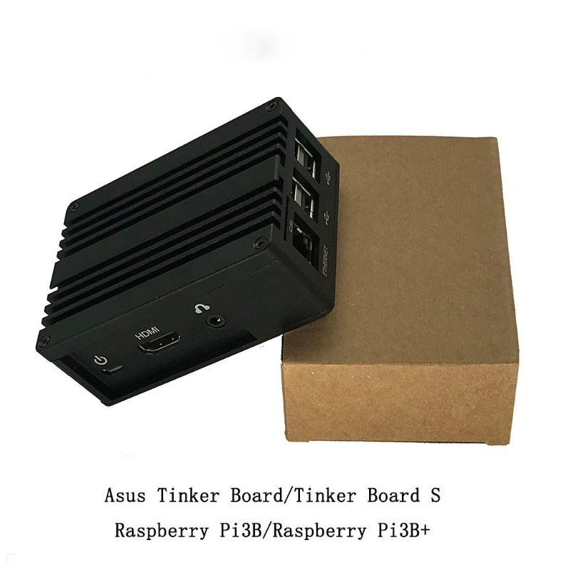 1Set Aluminum Case Metal Shell Black Enclosure For Raspberry Pi 3 Model B+/B Kit