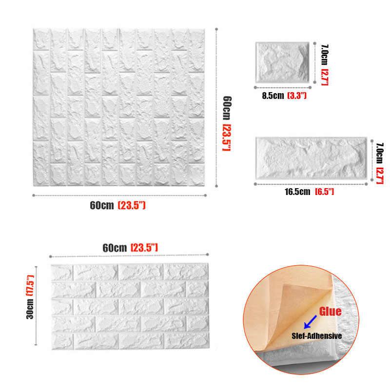 DIY Selbst Klebe 3D Wand Aufkleber Schlafzimmer Decor Schaum Ziegel Zimmer Dekor Tapete Wand Dekor Wohnzimmer Wand Aufkleber Für Kinder zimmer