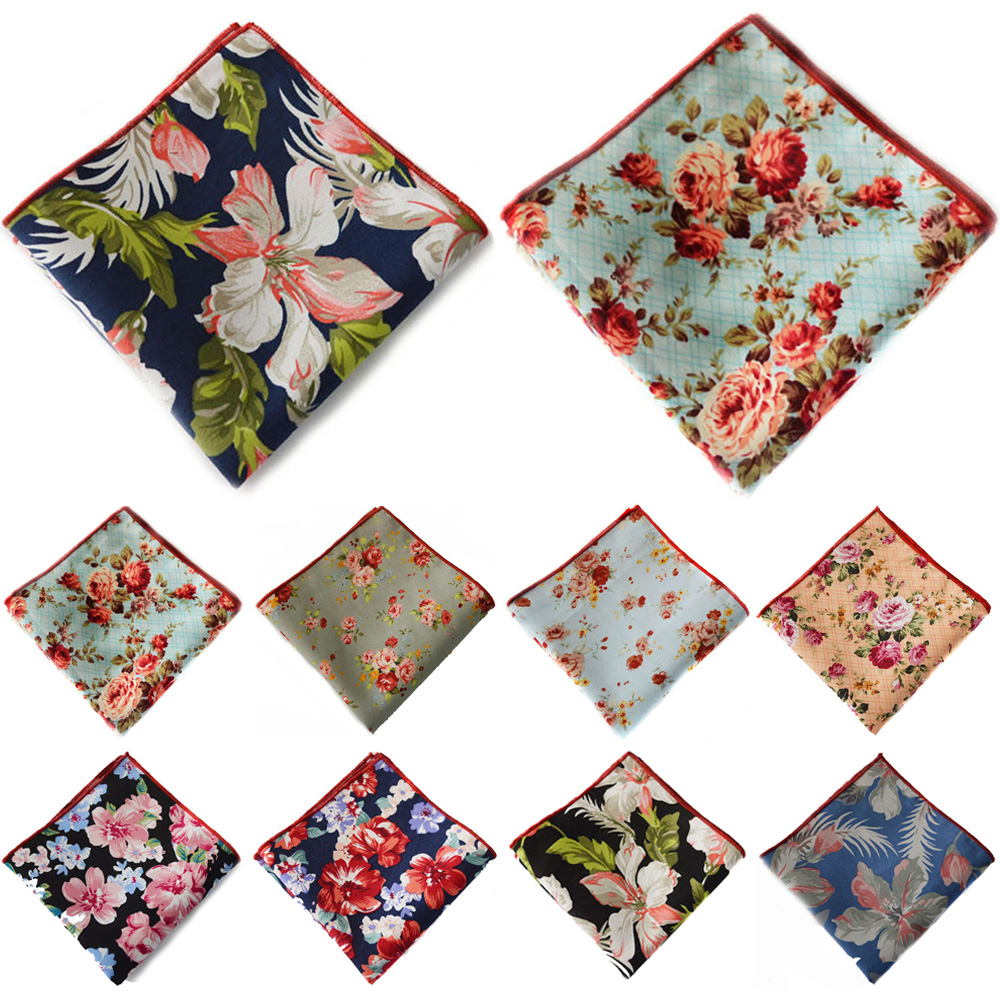 Men's Flower Floral Handkerchief Pocket Square Wedding Party Accessories Hanky YXTIE0319