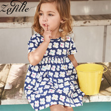 ZAFILLE New Summer Dress For Girl Cotton Kids Clothes Floral Printed Girls Dress Baby Girl Clothes Toddler Girls Clothing 2020 zafille baby girls clothes soft summer dress for girl sleeveless kids clothes toddler patchwork girl dress cotton girls clothing