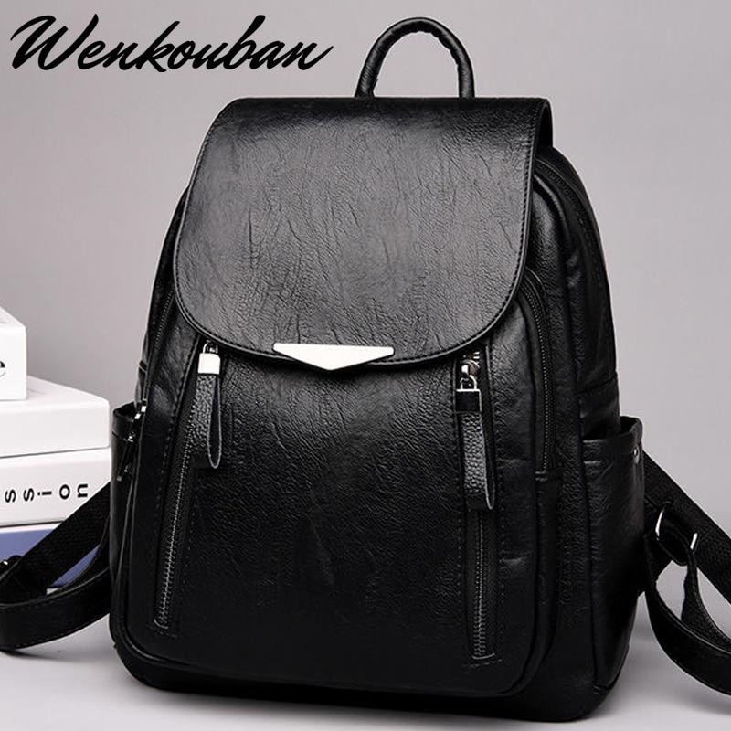 Women Backpacks Designer Leather Women Bag Fashion School Bags For Teenagers Girls Backpacks Travel Bags Mochila Feminina