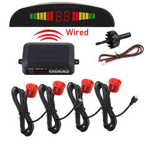 Car Auto Parktronic LED Parking Sensor with 4 Sensors Reverse Backup Car Parking Radar Monitor Detector System Display