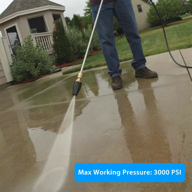 """High Pressure Washer Rotating Turbo Nozzle 3600 PSI 1/4"""" Quick Connect 3 Types"""