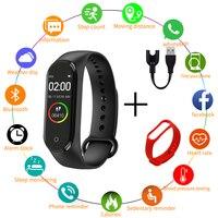 Reloj deportivo inteligente M4 para hombre y mujer, pulsera multifunción resistente al agua con control del ritmo cardíaco y de la presión sanguínea