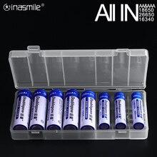 すべてのために18650 26650 16340電池ホルダー収納ボックス2 4 8 aa aaa充電式バッテリーコンテナオーガナイザー