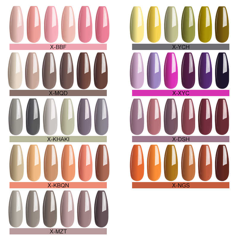 Mizhse Nail Gel Polish Uv Pure Kleur Nail Art Design Manicure 58 Kleuren Semi-Permanente Uv Lak Losweken uv Lak Gel Lak