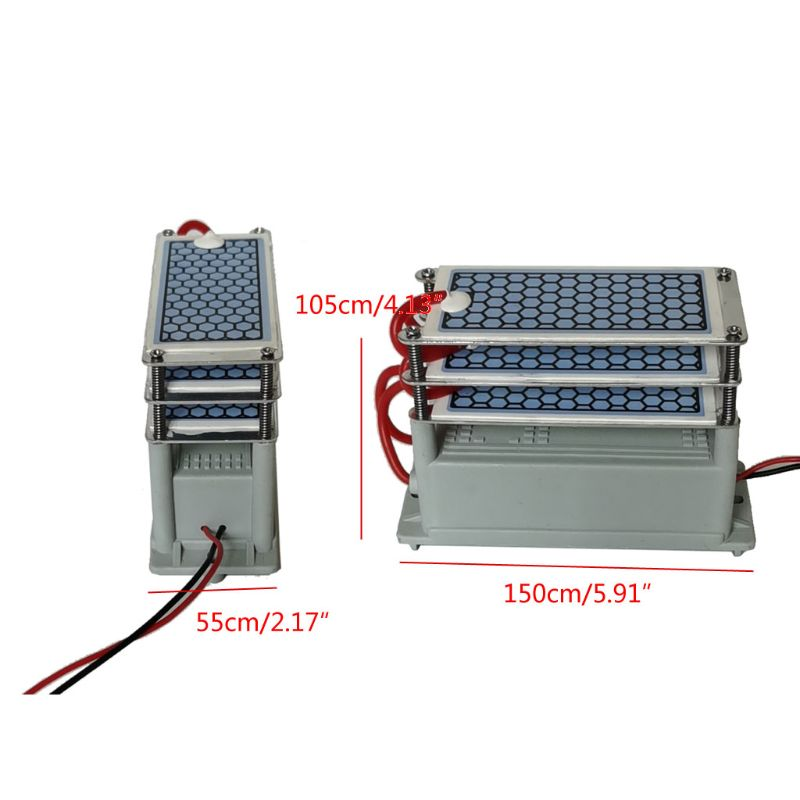 15g/h AC 220V Portable Ozone Generator Integrated Ceramic Ozonizer  Air Water Sterilization Purifier Parts Home Industry