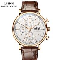 LOBINNI Luxury Brand Mechanical Watch Men Automatic Men's Watches 50m Waterproof Male Clock Man Sapphire 24hours montre homme