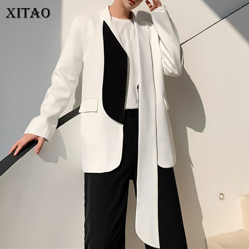 XITAO Design Fashion And Color Matching Blazer New 2020 Spring Pocket Pocket Small Fresh Hit Color Elegant Casual Coat DMY2938