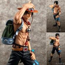 Anime uma peça portgas d ace 10th aniversário pvc figura collectible modelo brinquedos 23cm