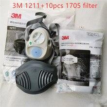 Máscara de 3m 1211 + 10 peças 3m 1705 conjunto de filtro