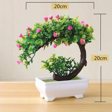 Искусственные растения бонсай маленькие древовидные моделирование горшечные растения поддельные цветы свадебного стола украшения в горш...