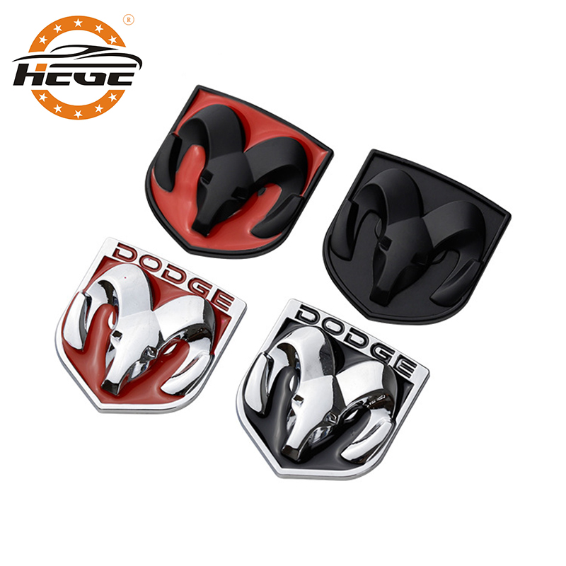Car 3D metal Emblem Badge logo sticker for Dodge Challenger caliber journey ram 1500 nitro Car body Trunk stickers accessories