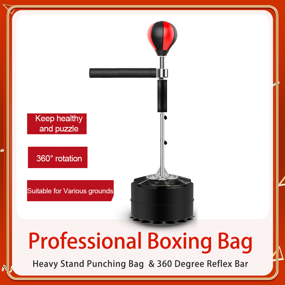 Permalink to Boxing Professional Boxing Bag Heavy Stand Punching Bag With 360 Degree Reflex Bar Fitness Boxing Equipment