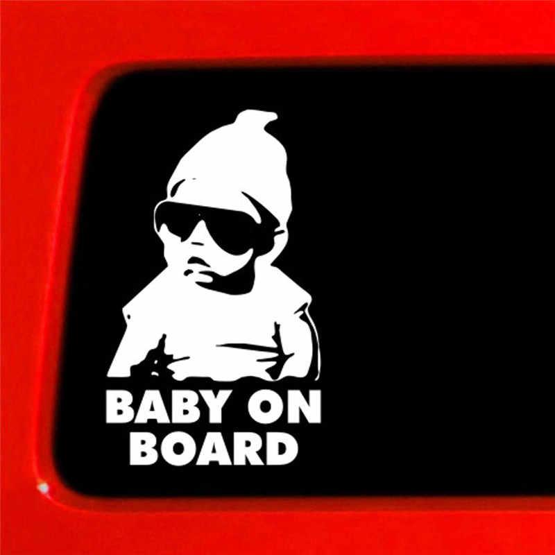 Autocollants et décalcomanies de voiture bébé à bord Cool arrière lunettes de soleil réfléchissantes pour enfants autocollants de voiture autocollants d'avertissement accessoires de voiture