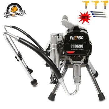 PHENDO professional airless spraying machine with brushless Motor Spray Gun 1500W 3L Airless Paint Sprayer painting machine tool