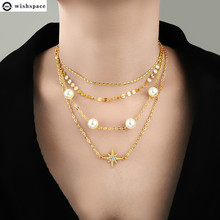 The new fashion multilayer geometrical stars alloy pendant necklace female accessories wholesale 2015 new arrival fashion alloy necklace cicada pendant necklace wholesale