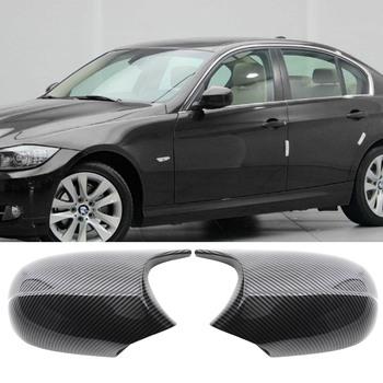 Nowy 2 sztuk osłona lusterka na drzwi s osłona lusterka na drzwi zamiennik czarny lusterko wsteczne boczne okładki czapki wsteczne dla BMW F30 F32 tanie i dobre opinie CN (pochodzenie) Car rearview side mirror cover ABS plastic