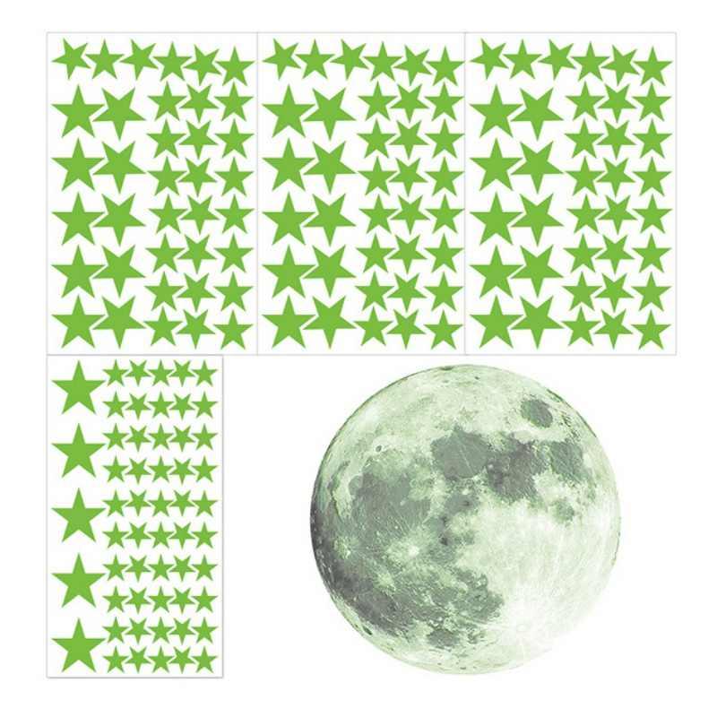 167 шт./компл. светящиеся звезды и луна стикер DIY Детская комната Спальня Декоративные Декорации для дома светится в темноте стены потолок стикер s