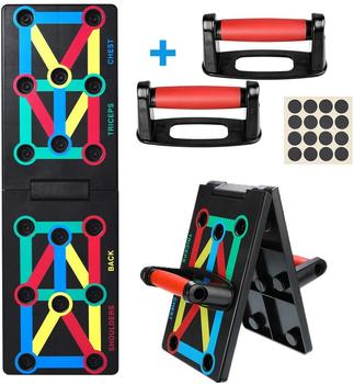 9 in 1 Push Up Rack Training Board ABS abdominal Muscle Trainer Sports Home Fitness Equipment for body Building Workout Exercise 11