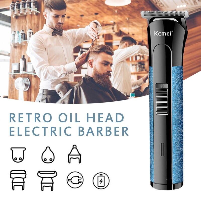 Electric Hair Clipper Beard Eyebrow Trimmer Cordless Hair Cutter Machine Hair Groom Multifunctional Hair Trimmer EU Plug