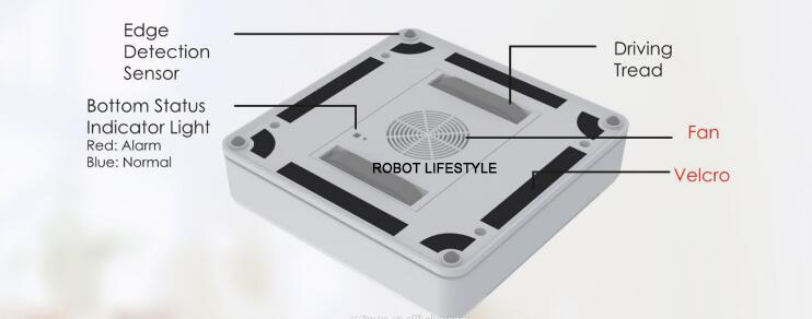Робот-пылесос с пультом дистанционного управления, с высоким всасыванием, анти-падение, лучший робот-пылесос, робот для чистки окон и стекол