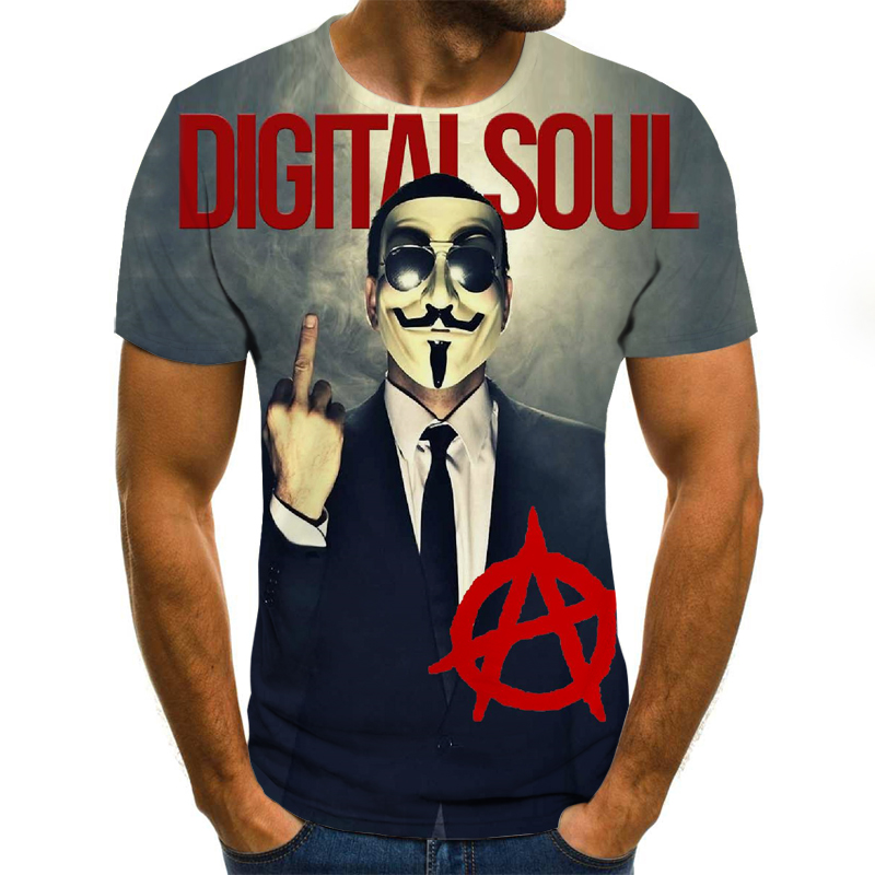 Summer Men's T-shirt 3D Print Cute Clown Hip-Hop T-Shirt 2019 Unisex European Fashion Style Plus Size Round Neck Tops XXS-6XL