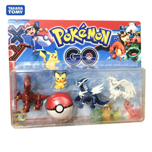 5pcs/Set  Big size Evolution XY Raichu Pika Anime Pokemon Kyurem Action Figures Collection model Birthday Gift toys No Box