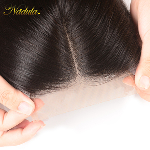 Image 5 - Nadulaヘアブラジルストレートヘア閉鎖10 20インチ無料/中部pu/スイスレース閉鎖ナチュラル色のremy毛織り