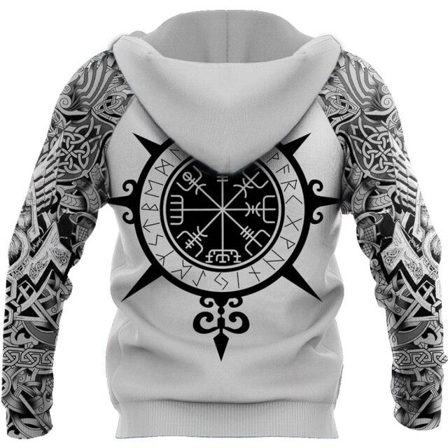 Beautiful Viking Tattoo 3D Printed Hoodie 4