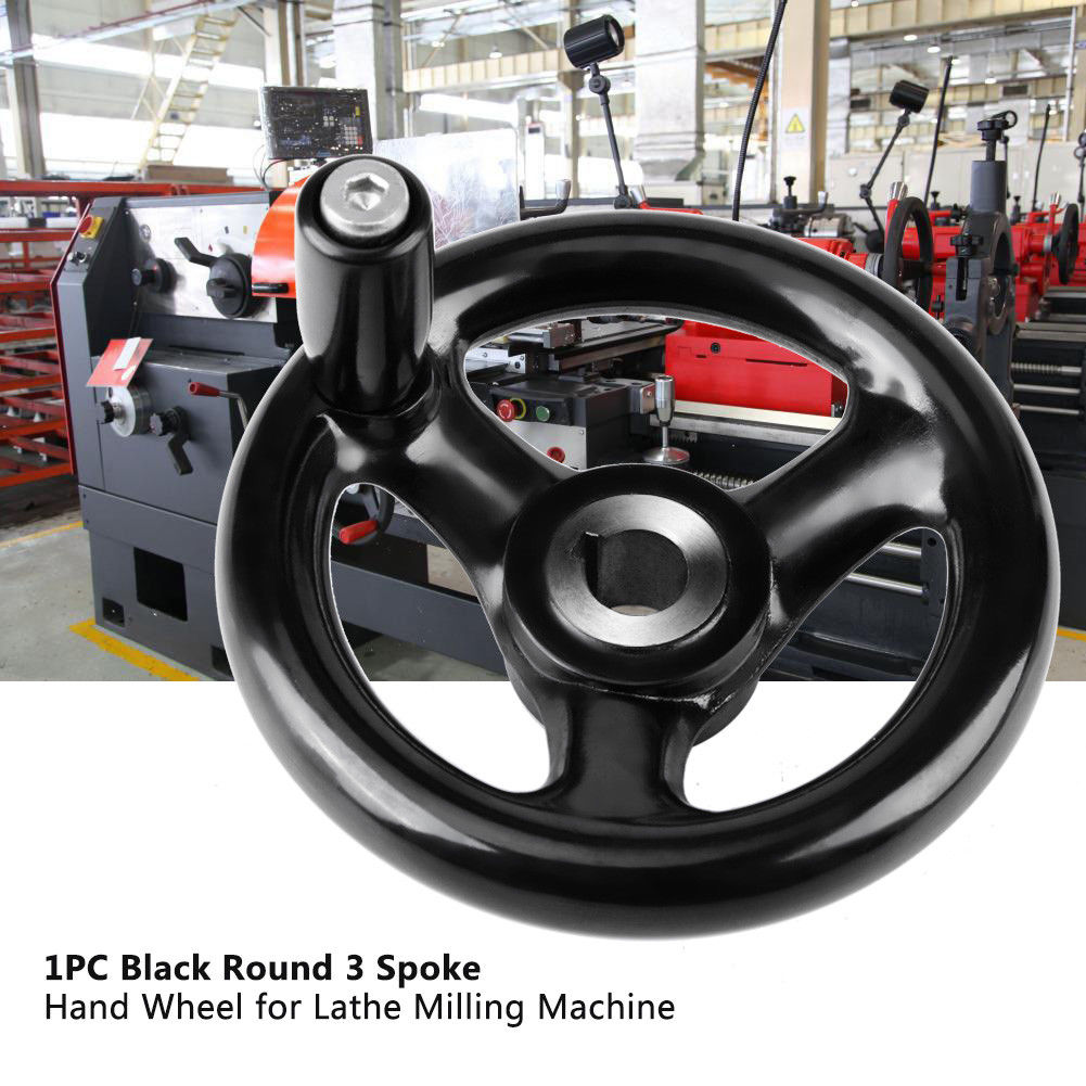 HOT Round 3-Spoke Hand Wheel With Removable Handle For Lathe Milling Grinder LSF99