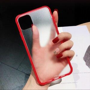 Image 4 - מתכת עדשת אותיות מקרי מגן לאייפון 11 2019 XS Max XR XS 6 6S 7 8 בתוספת מלא גוף רך TPU שקוף טלפון חזרה כיסוי