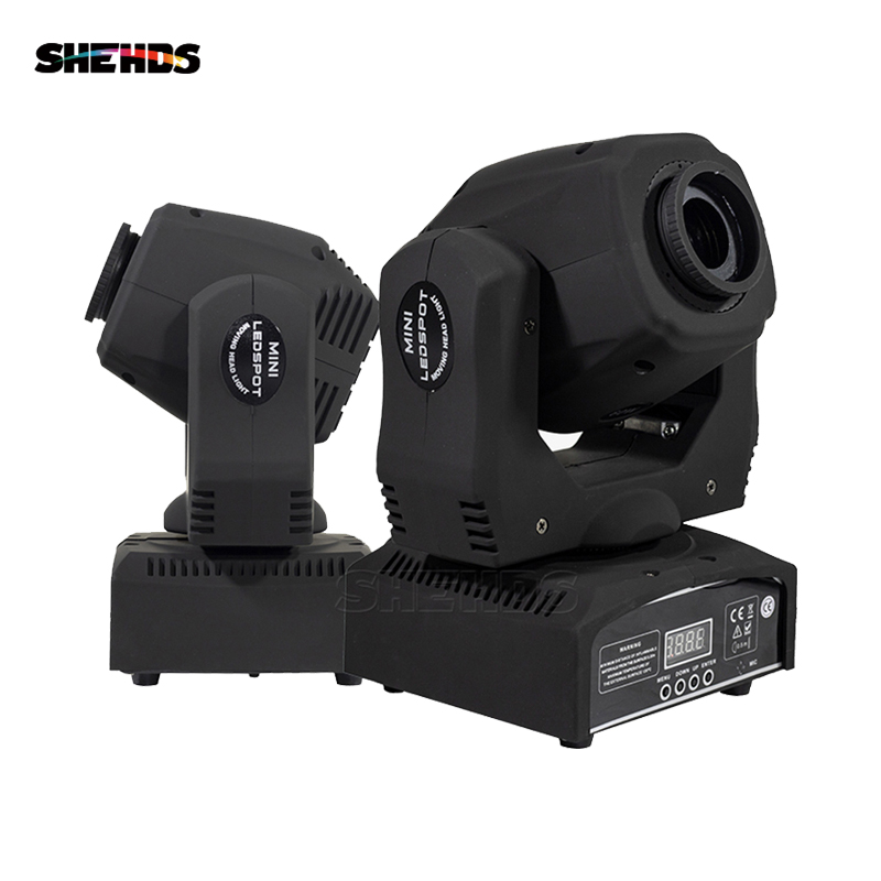 2 Pcs 60w Led Spot Light 7 Gobos Moving Head Light DMX 9/11 Channels Light/Master-Slave/Auto Run/Sound Controller Fast Shipping