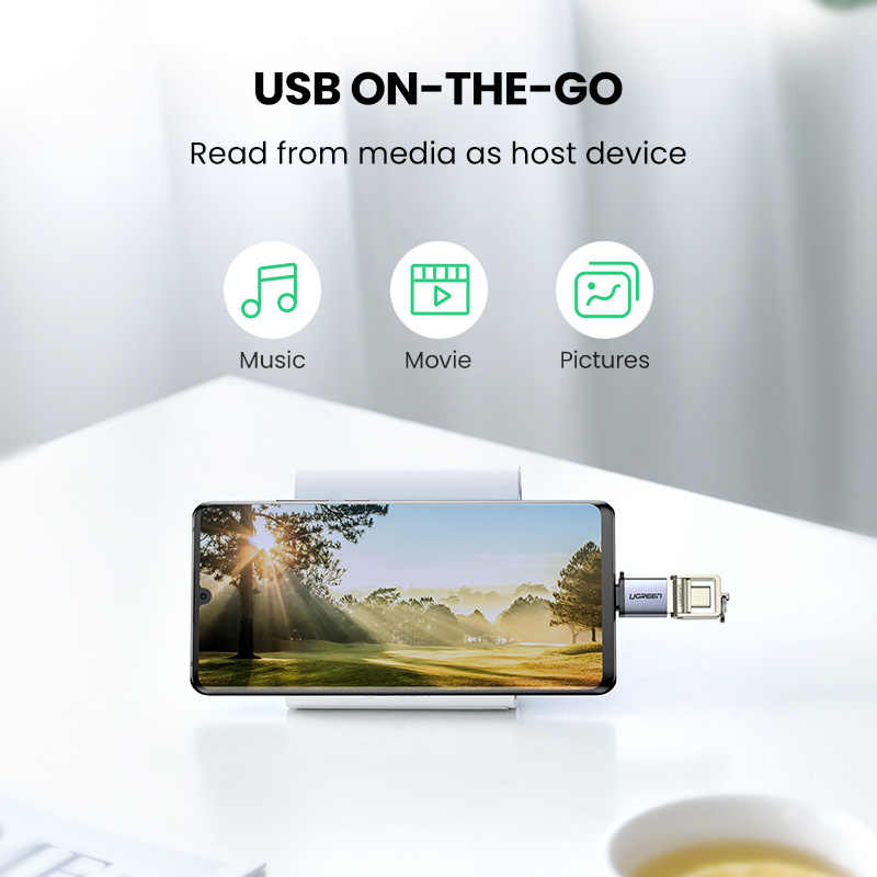 UGREEN USB C OTG Adapter Schnelle USB 3,0 zu Typ C Adapter für Macbook Pro Xiaomi mi 10 Mini USB adapter Typ-C OTG Kabel Konverter