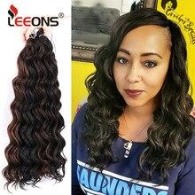 Leeons – Extensions de cheveux synthétiques, 20 pouces, tresses Afro ondulées en Fiber de basse température, pré-boucle