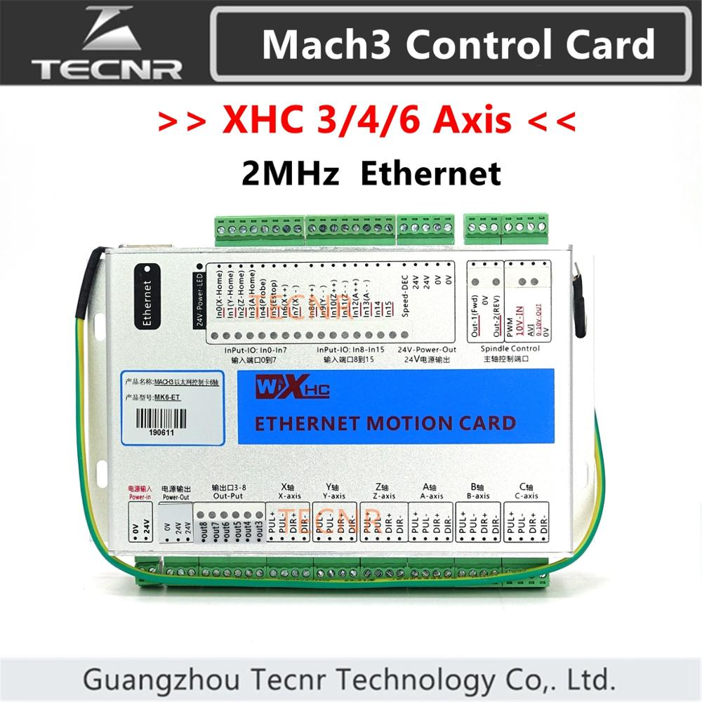 XHC Ethernet Mach3 Breakout Board 3 4 6 Axis Motion Control Card Resume 2MHz Support Windows 7 10 For Cnc Enrgaver Cut Machine