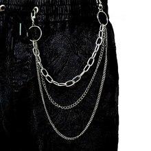 Calças metálicas vintage femininas, acessório para mulheres, calças hipster jean clipe borla