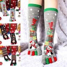 2019 New Fashion Women Funny Cartoon Printed Toe Socks Cotton Five Fingers Casual Soft Christmas Sock HOT