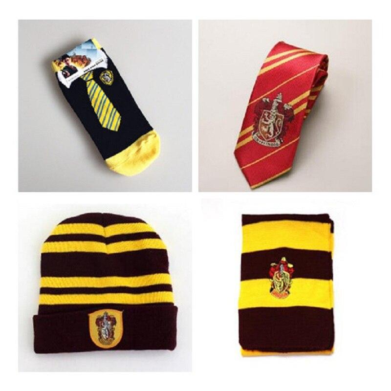 Hot Harri Potter Accessories Borboleta Necktie Style Tie Figure Scarf Sock Series Kids Halloween Christmas Cosplay Gift Toys