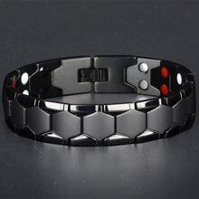 Large Mens Bracelet 3 IN 1 Health Energy Bangle Arthritis Tw