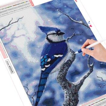 HUACAN DIY Diamond Painting Cross Stitch Bird 5D Embroidery Animal Mosaic Home Decor Diamond
