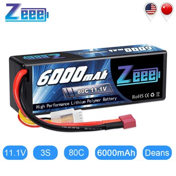 Zeee 11.1V 6000mAh 3S 80C Lipo Battery with Deans Plug RC Battery Charger for RC Car Truck Truggy FPV Airplane RC Helicopter zeee lipo battery 11 1v 6000mah 60c 3s rechargeable drone battery deans plug xt60 connector 3s lipo for fpv rc car helicopter