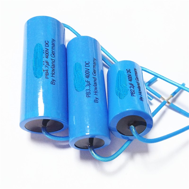 Original 2.2 / 3.3 / 4.7 / 6.8UF400V Silver Film Non-Inductive Crossover Fever Promise High Frequency Capacitor