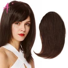 Hair-Extensions Hair-Piece Human-Hair-Bangs Gradient-Bangs Clip-In Ali-Beauty Machine-Made