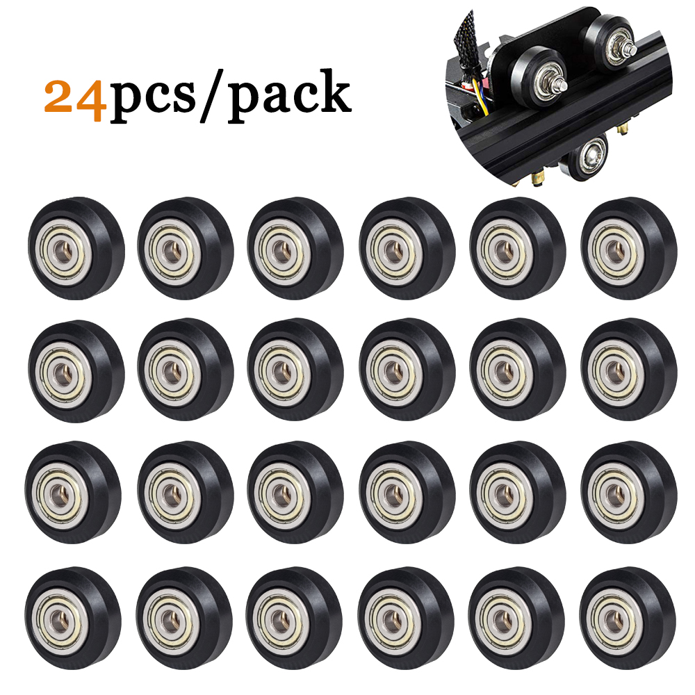 SIMAX3D CNC Openbuilds Wheel 3d printer parts 12 24 pcs Plastic with Bearing Idler Pulley Gear Perlin Wheel ender 3 Printer kits