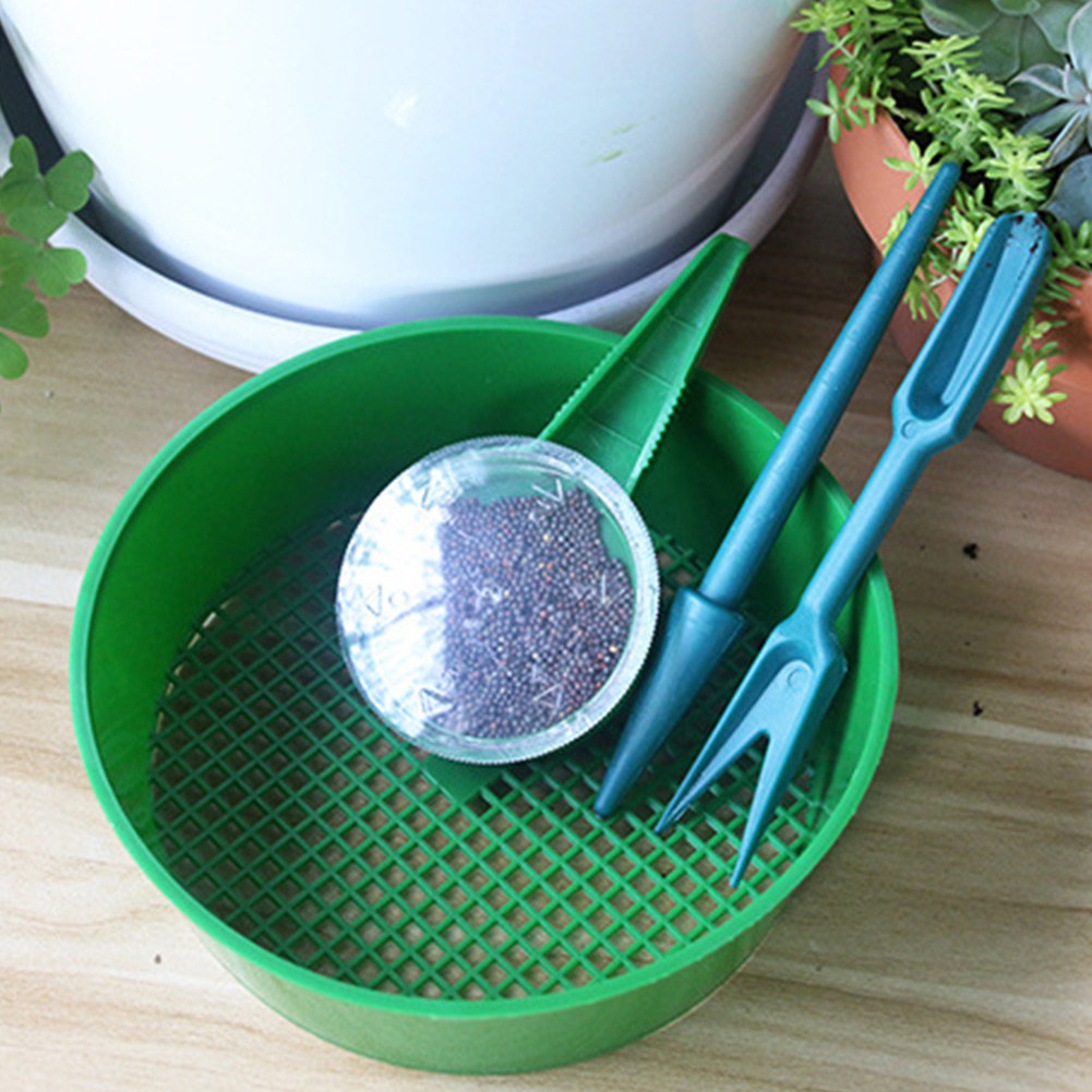 Sifter Vegetable Gardening Tool Set Home Flowers Practical Bonsai Drilling Plant Cultivation Simple Seed Transplanter Greenhouse