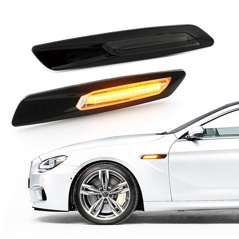 NEW BMW X1 E84 BLACK SMOKED ADDITIONAL TURN INDICATOR LIGHT ON FENDER SET